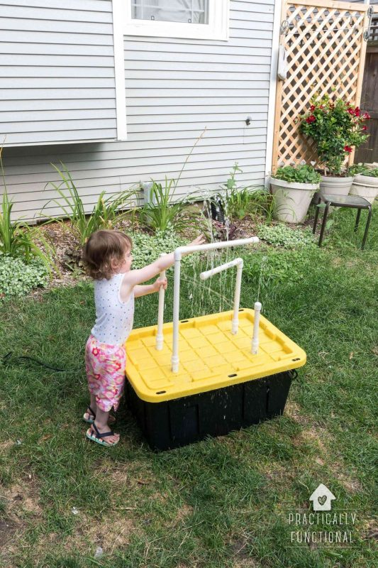 Diy water table with sprayers and 23 other fun summer activities for toddlers