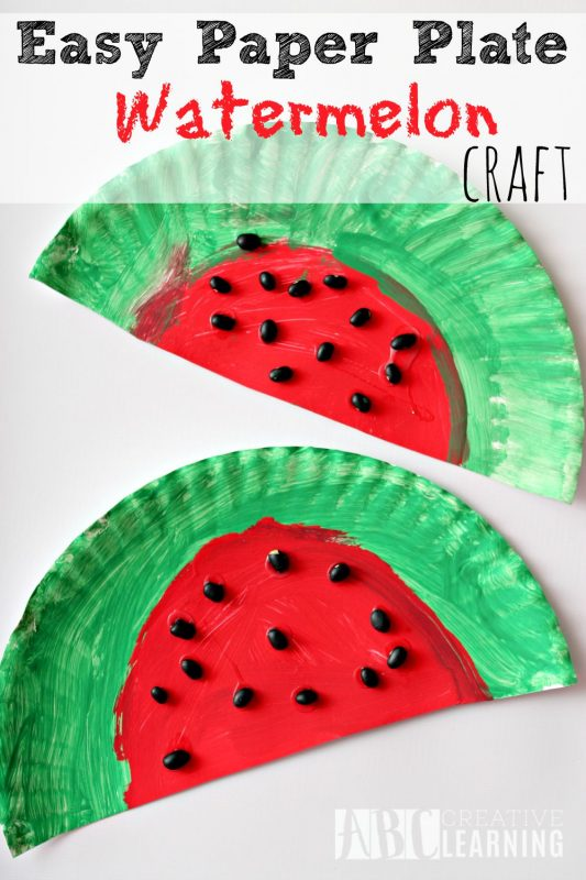 Easy paper plate watermelon craft and 23 other fun summer activities for toddlers