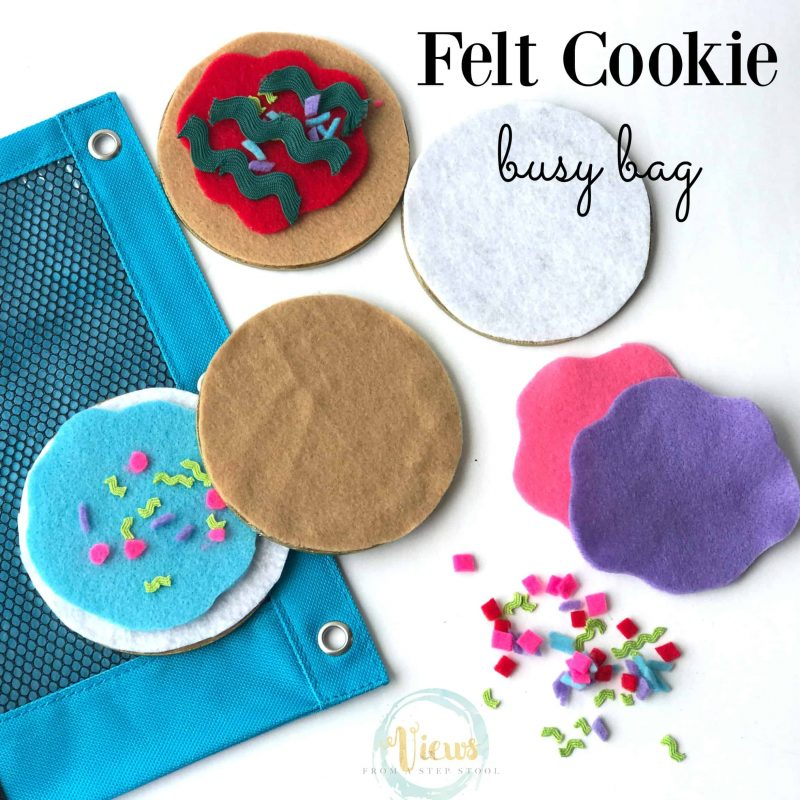 Felt cookie busy bag and 23 other fun summer activities for toddlers