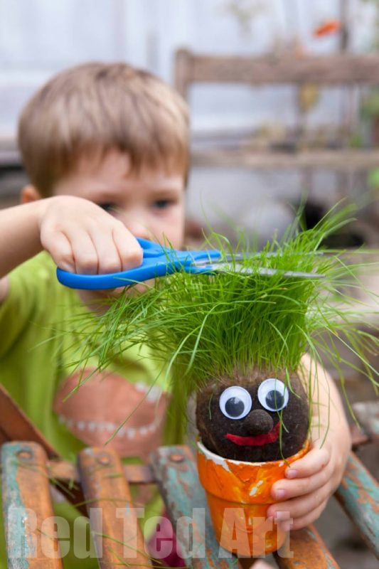 Grass head for kids and 23 other fun summer activities for toddlers