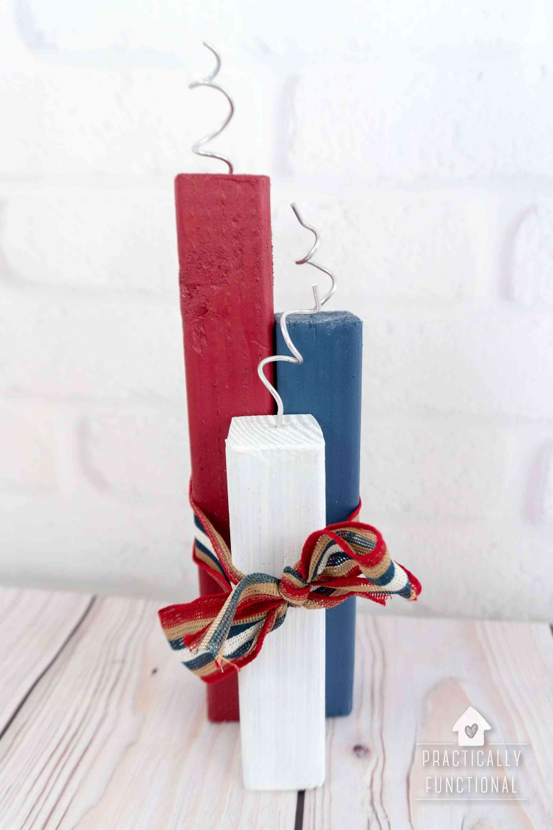 Super easy diy wooden firecrackers for the 4th of july