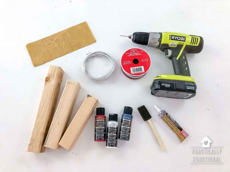 Supplies to make diy wooden firecrackers