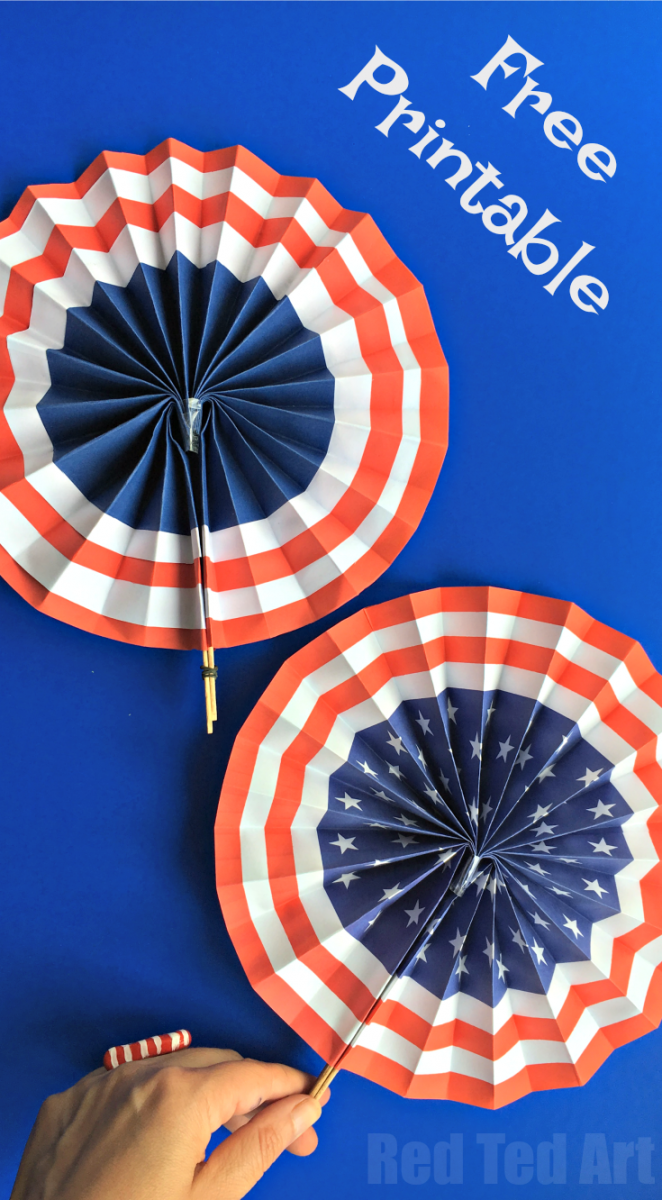 4th of july fan and 26 other 4th of july crafts for preschoolers