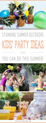 7 Stunning Summer Outdoor Kids Party Ideas