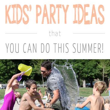 7 stunning summer outdoor kids birthday party ideas