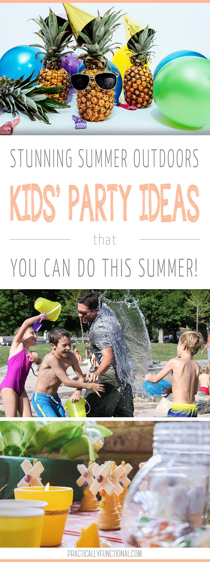 Are you looking for some great kids' party ideas for this summer? Here are seven stunning summer outdoor birthday party ideas that are fun for kids and easy to do! #birthdayparty #kidspartyideas