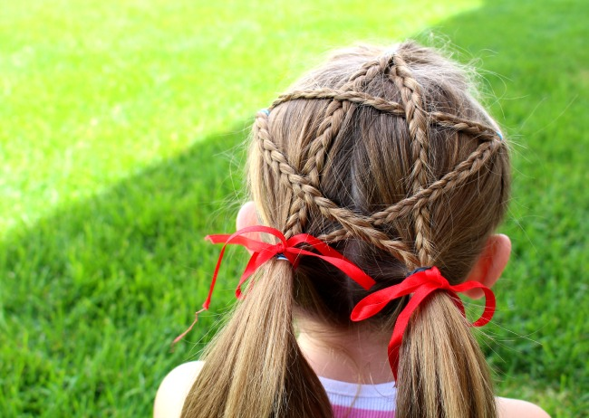 Cute hair style for 4th of july and 26 other 4th of july crafts for preschoolers
