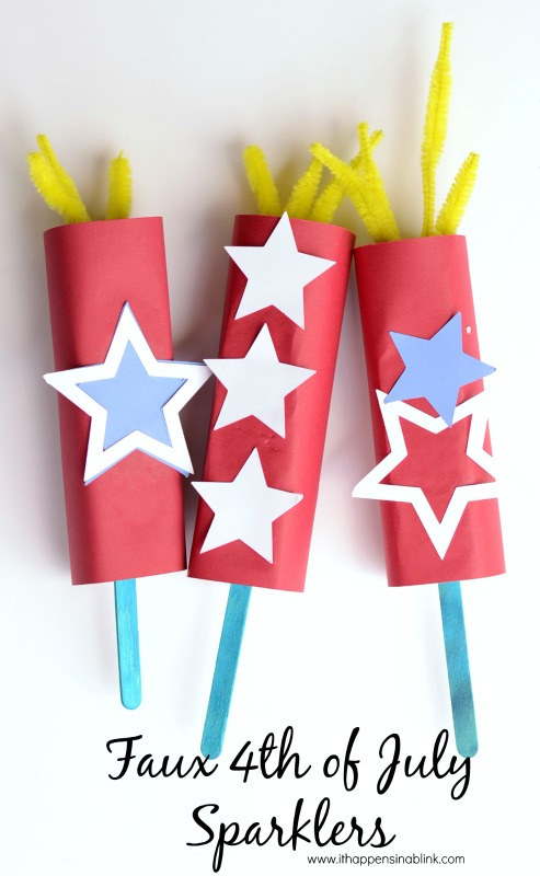 Faux 4th of july sparklers and 26 other 4th of july crafts for preschoolers