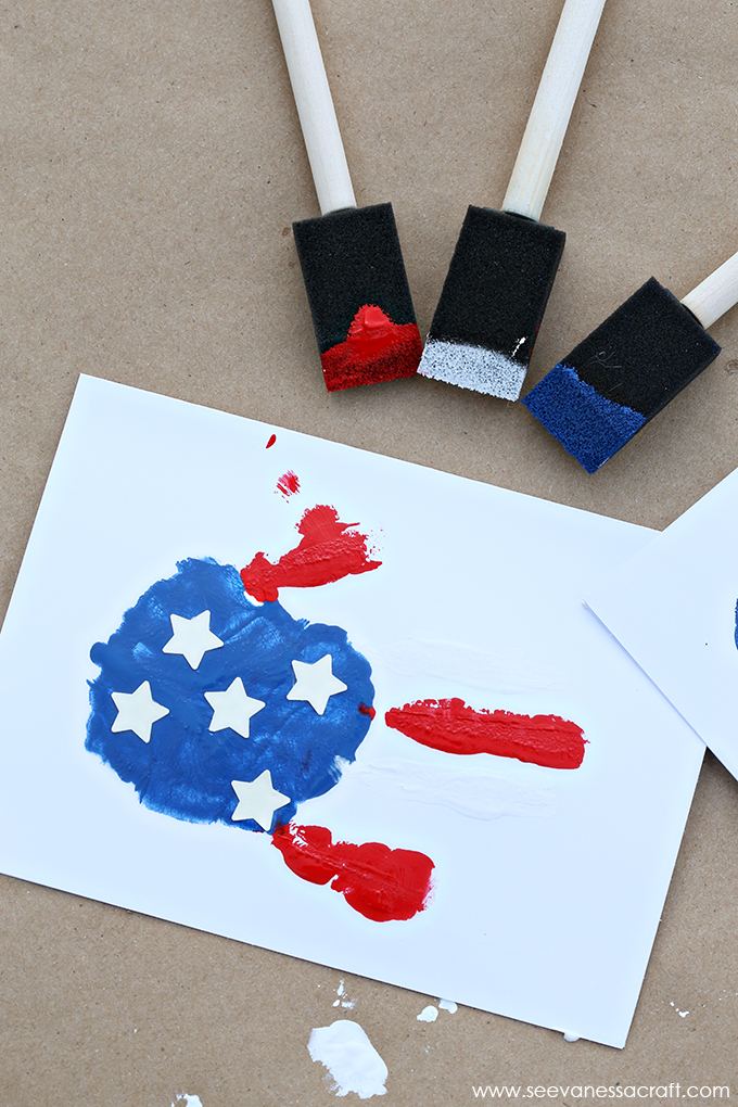 Handprint flag craft and 26 other 4th of july crafts for preschoolers