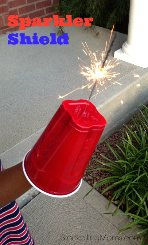 Homemade sparkler shield and 26 other 4th of july crafts for preschoolers