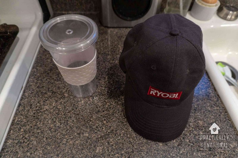 How to dry a baseball cap after washing in the dishwasher