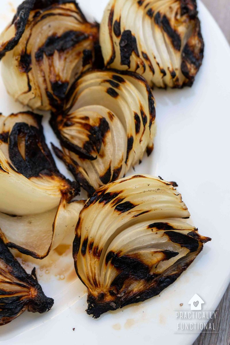 How to grill onion wedges