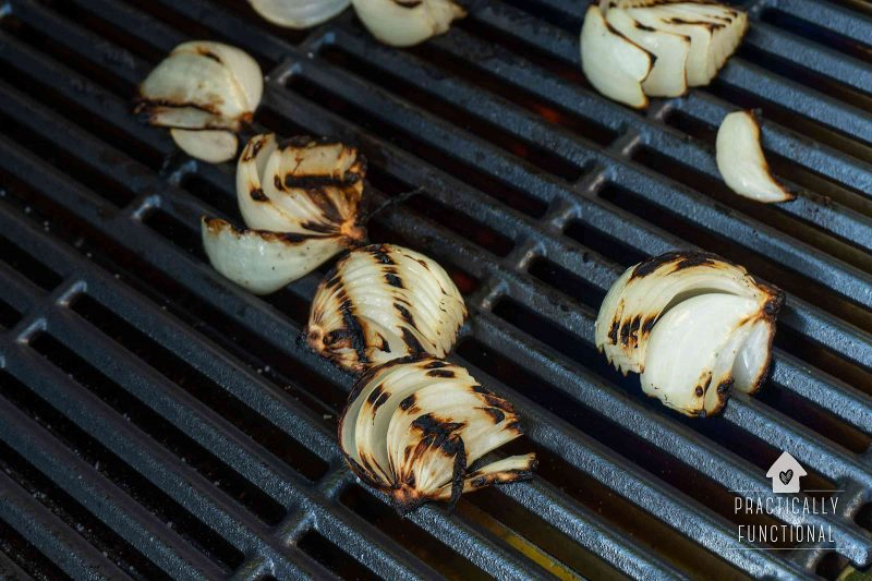 How to grill onions in wedges on a gas grill
