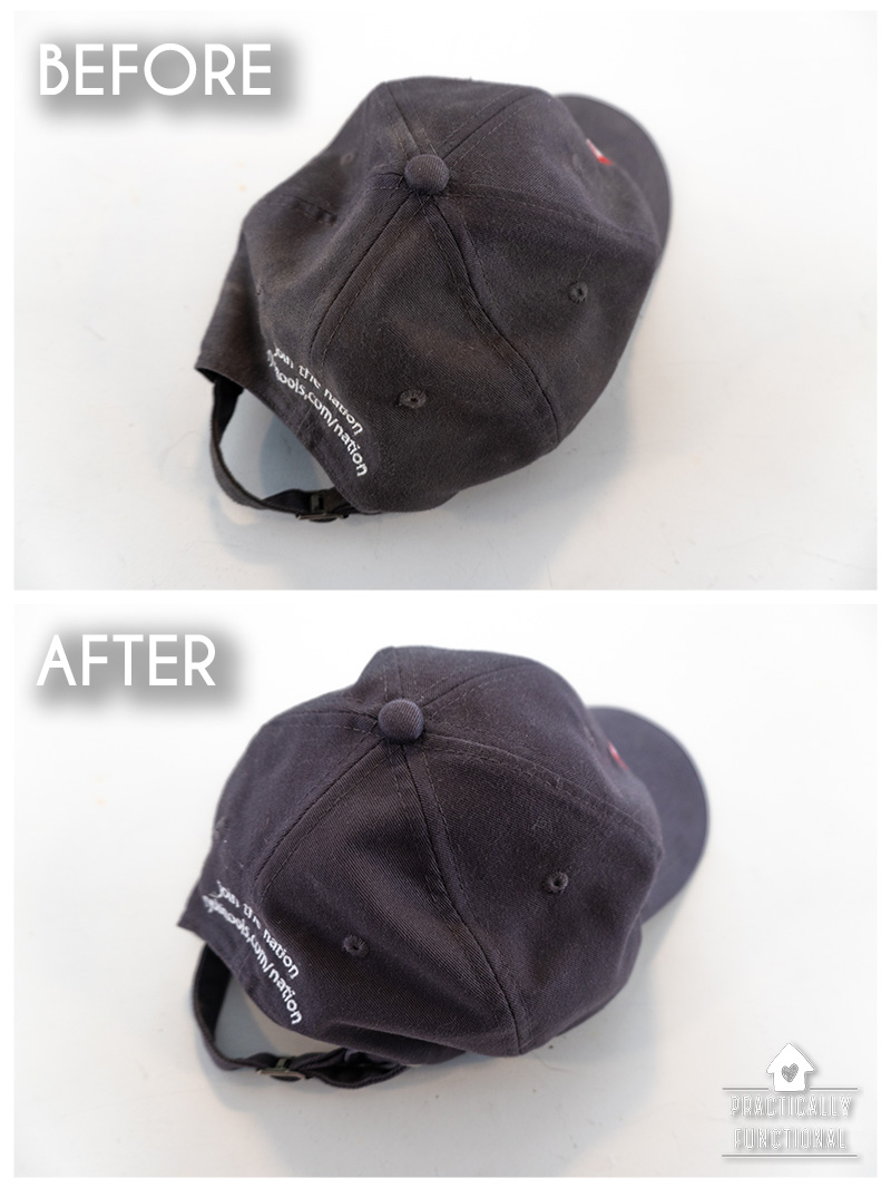 How to wash a baseball cap in the dishwasher before and after