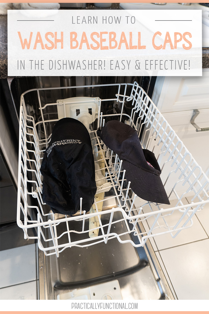 Learn how to wash a baseball cap in the dishwasher easy