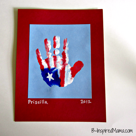 Patriotic handprint craft and 26 other 4th of july crafts for preschoolers
