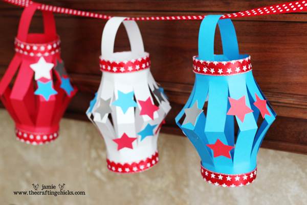 Patriotic paper lanterns and 26 other 4th of july crafts for preschoolers