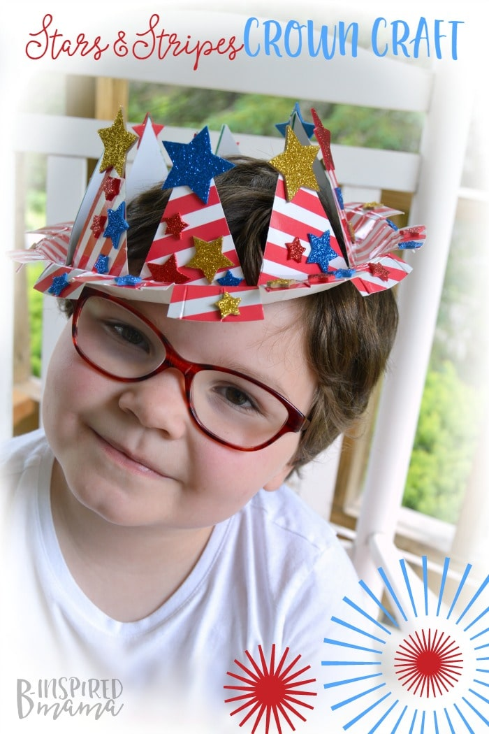 Patriotic stars and stripes crown and 26 other 4th of july crafts for preschoolers