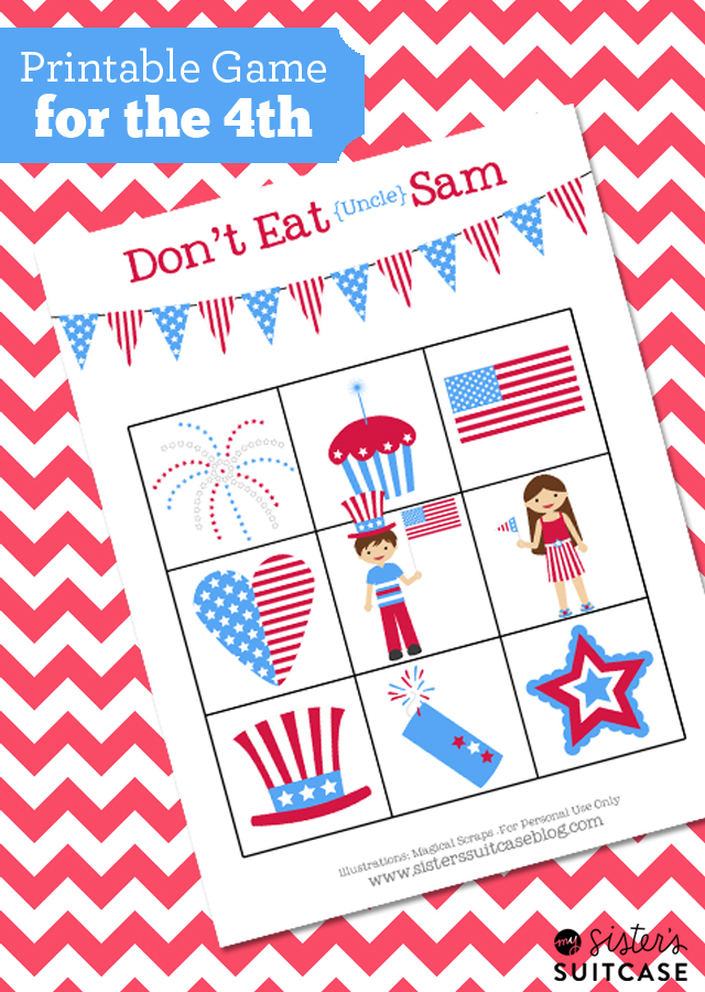 Printable kids game for the 4th of july and 26 other 4th of july crafts for preschoolers