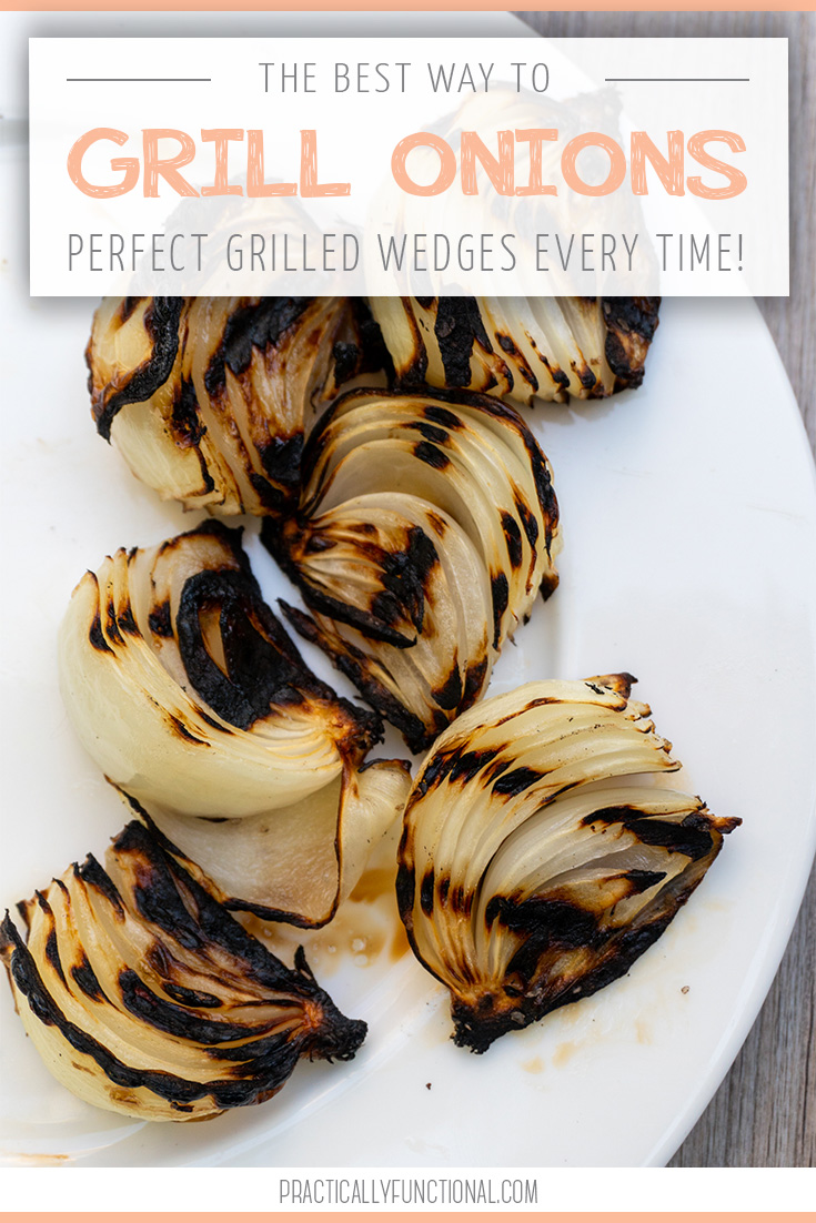 Break out the grill for summer and learn how to grill onions! These are so delicious and the easiest side dish for all your summer nights. #grillingrecipes #summerrecipes