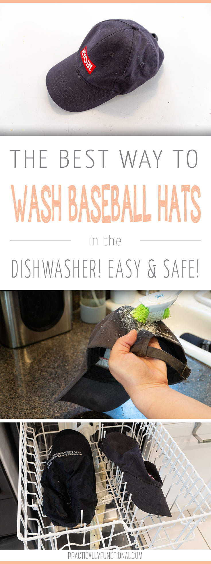 The best way to wash a baseball cap in the dishwasher easy