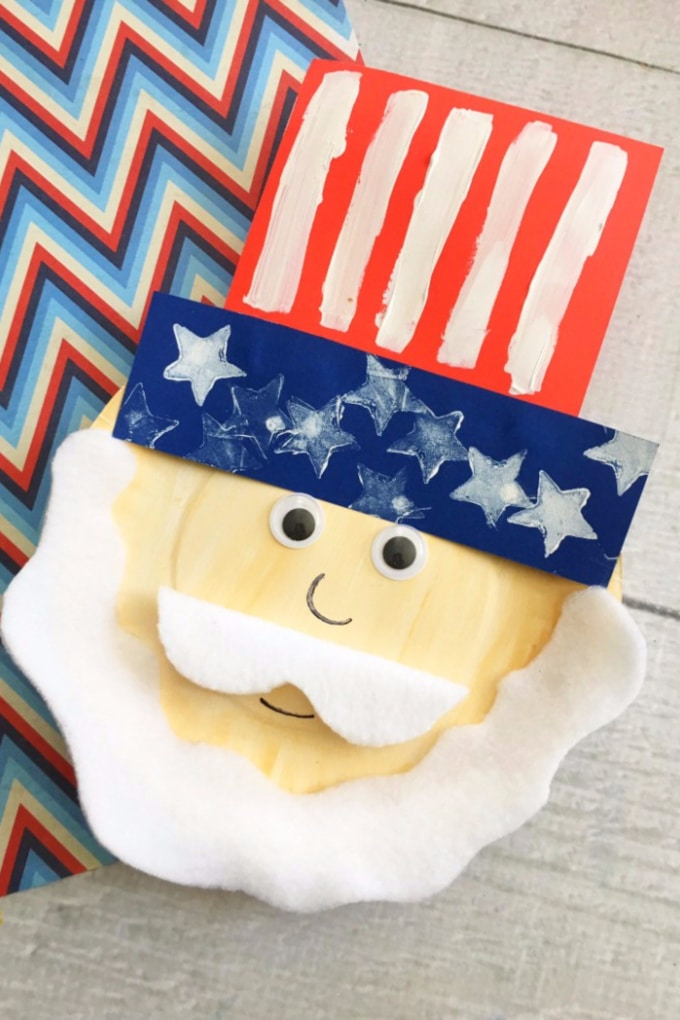 Uncle sam paper plate craft and 26 other 4th of july crafts for preschoolers