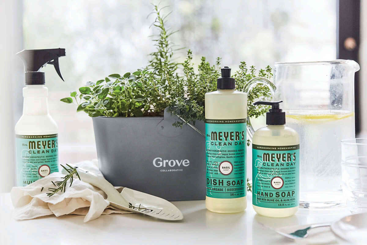 Free mrs. meyers cleaning products and caddy from grove collaborative practically functional 8