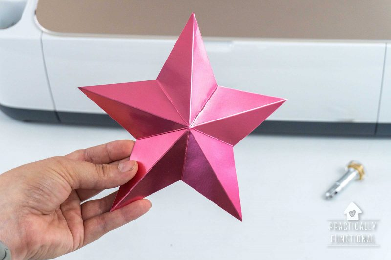 How to make 3D paper stars with the Cricut scoring wheel