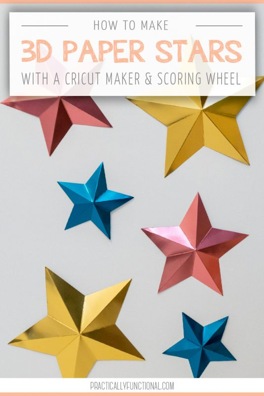How to make 3d paper stars with the cricut scoring wheel title