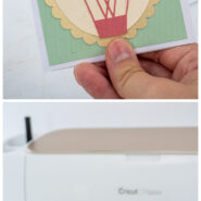 How to make a pop up box card with the cricut scoring wheel before after
