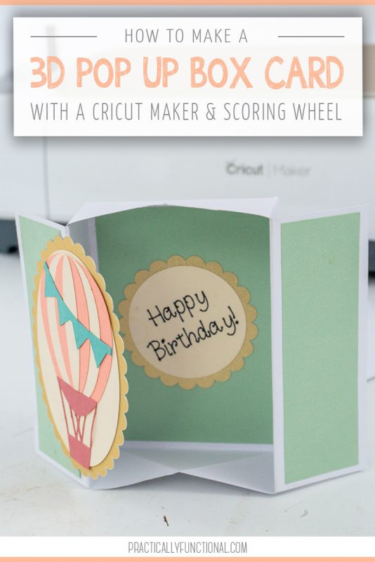 How to make a pop up box card with the cricut scoring wheel title