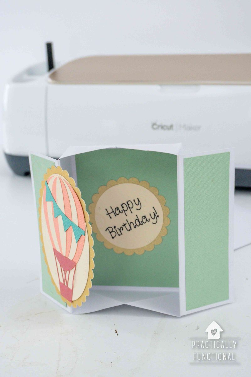 Learn how to make a fancy fold box card with a cricut and cricut scoring wheel