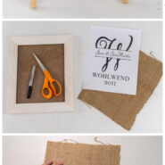 Simple diy burlap monogram sign 3 step