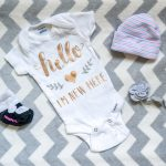 How to make a hello im new here baby onesie with a cricut easypress 2