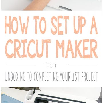 How To Set Up A Brand New Cricut Maker & Do Your First Project!