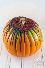 How To Make A Melted Crayon Pumpkin With A Hot Glue Gun