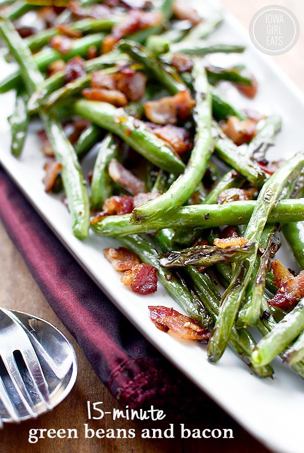15 minute green beans and bacon and 14 other thanksgiving vegetable side dishes everyone will love