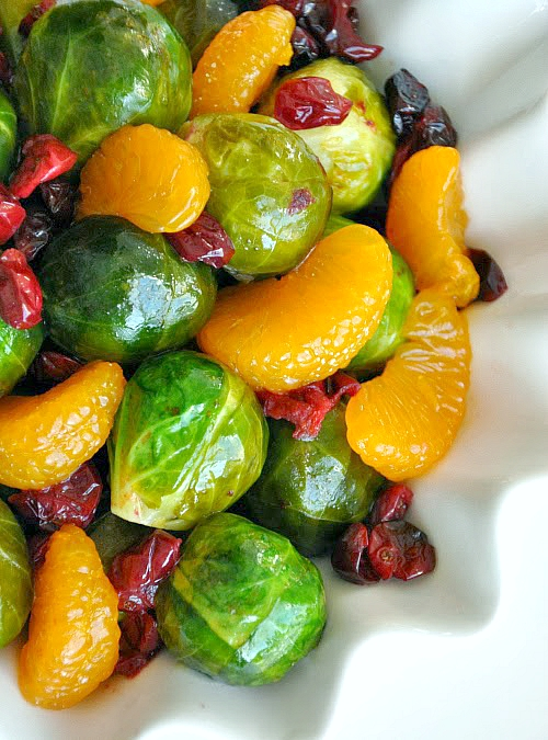 Cranberry clementine brussels sprouts blood orange brown sugar glaze recipe and 14 other thanksgiving vegetable side dishes everyone will love