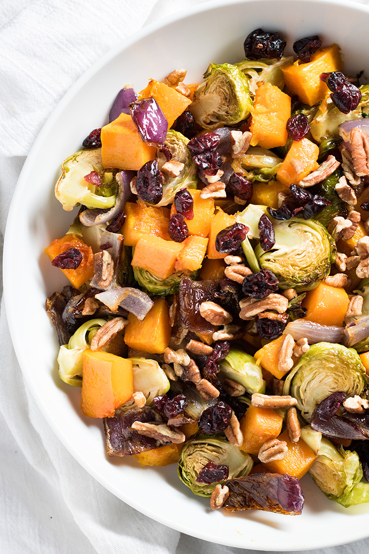 Cranberry pecan roasted vegetables and 14 other thanksgiving vegetable side dishes everyone will love