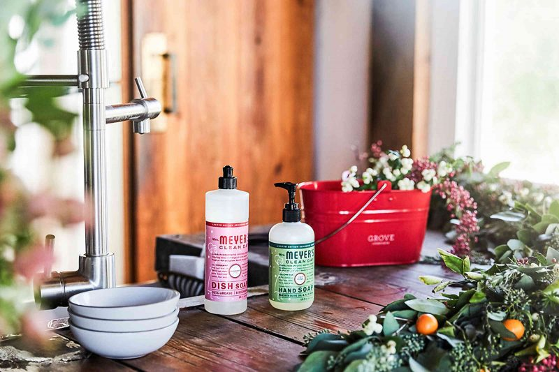 Free mrs. meyers orange clove peppermint and pine holiday cleaning products practically functional 1