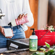 Free mrs. meyers orange clove peppermint and pine holiday cleaning products practically functional 3