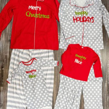 DIY Matching Family Christmas Pajamas