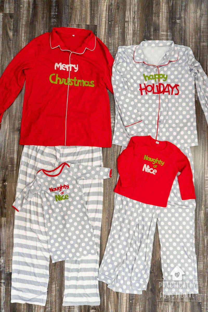 Diy matching family christmas pajamas made with a cricut maker