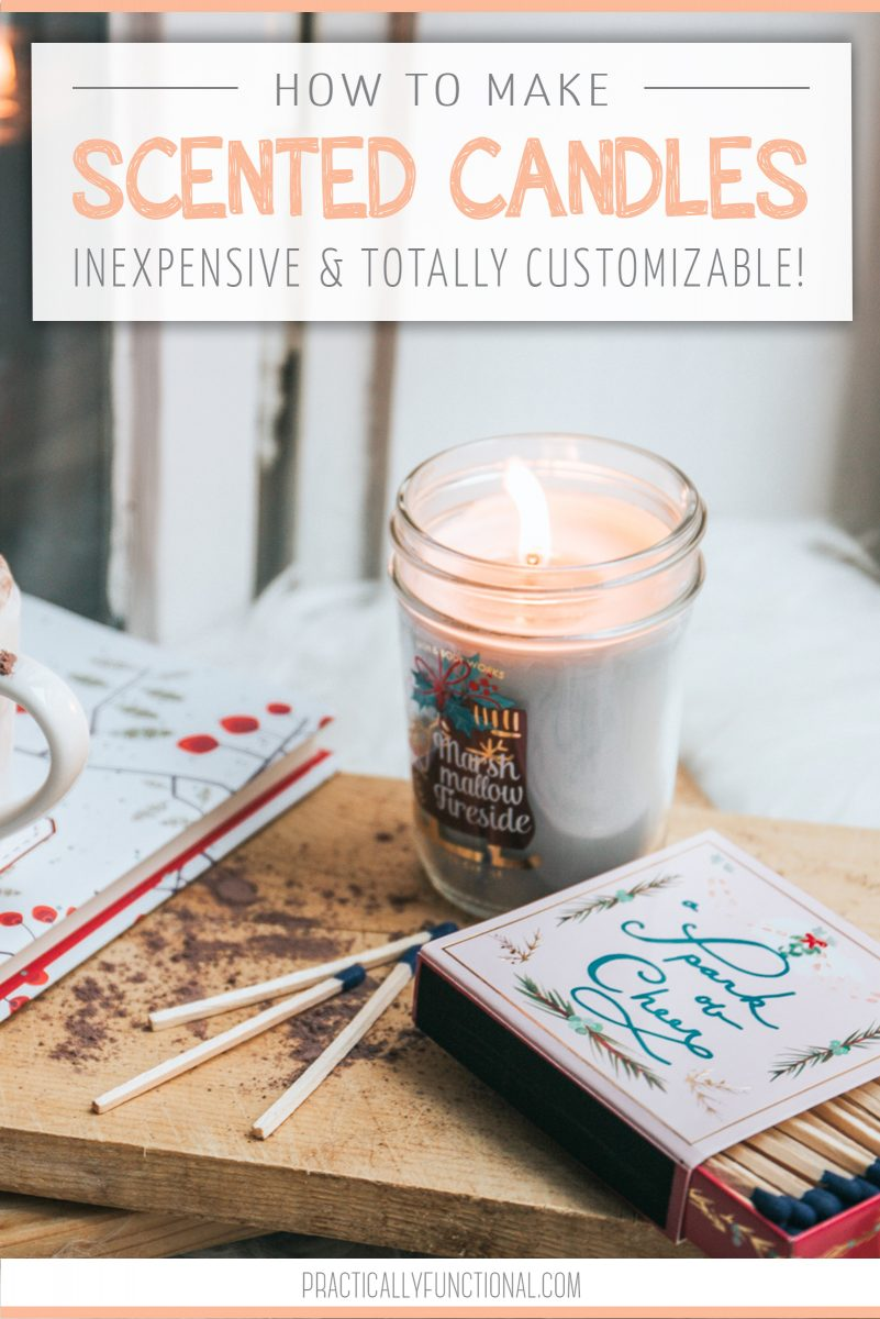 How to make candles at home title