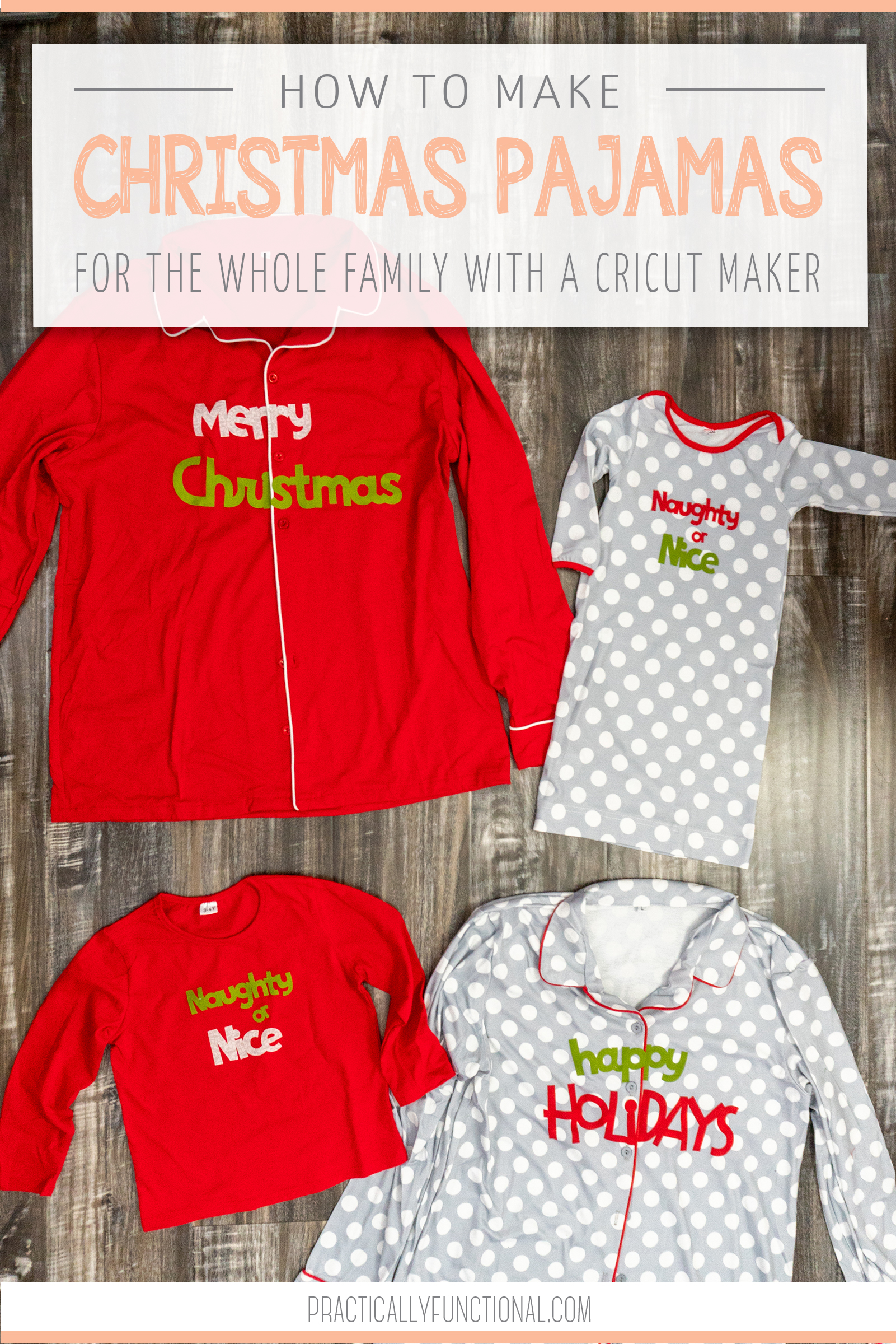 Matching family Christmas pajamas are super popular (and very cute!)! This year I decided to DIY them and love how they turned out! Here's how to make DIY matching family Christmas pajamas!