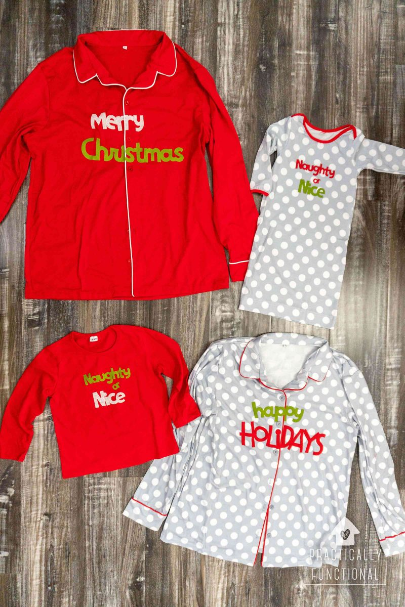 Make your own maching family christmas pajamas with a cricut maker