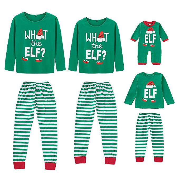 What the elf family matching christmas pajamas and 19 other matching family Christmas pajamas that are warm, comfy, and totally budget-friendly!