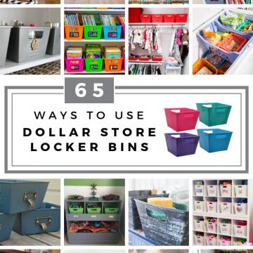 65 ways to organize using dollar tree storage bins