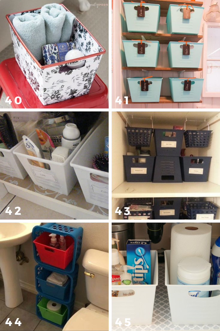 65 ways to organize using dollar tree storage bins bathroom