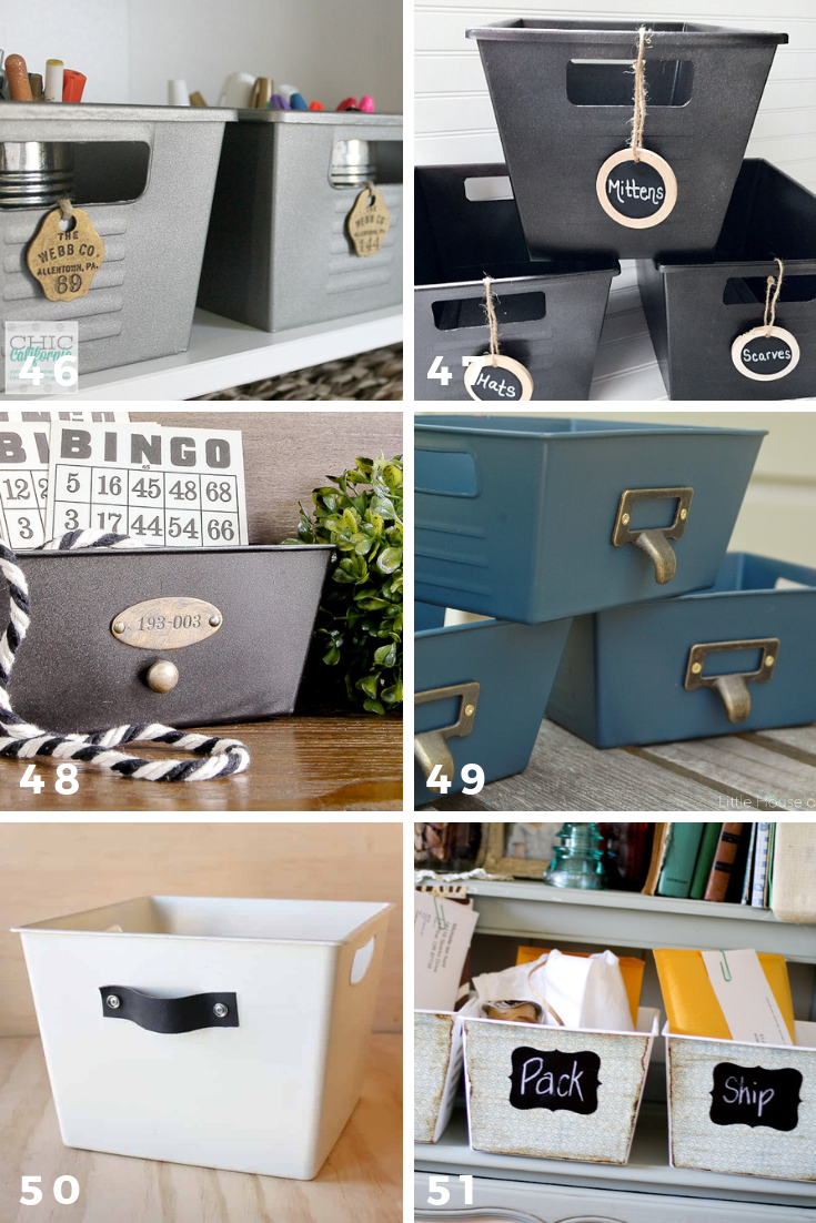 65 ways to organize using dollar tree storage bins decor
